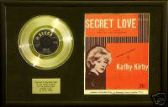 "KATHY KIRBY- 7"" Platinum Disc & songsheet -SECRET LOVE"